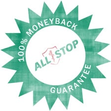 Allstop product quality guarantee badge
