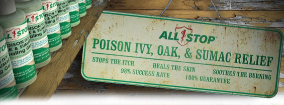 All Stop Poison Ivy products known worldwide as a complete treatment solution
